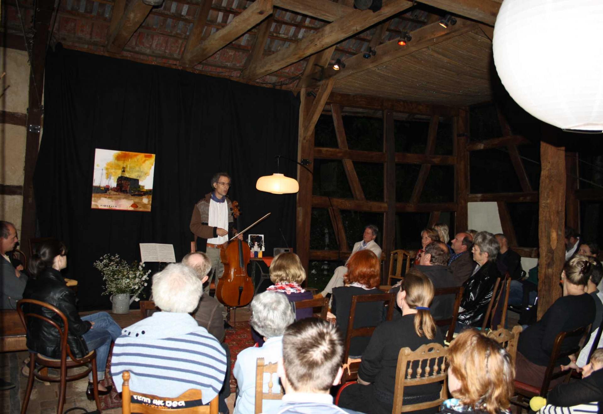 2011 sept. Concert de violoncelle par Jean BEAUCHAMPS