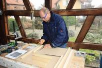 Johannes BlonK dans son atelier (02-2016)