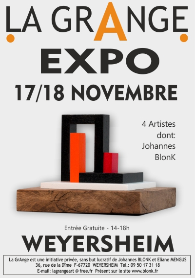Poster BlonK Exhibition La GrAnge