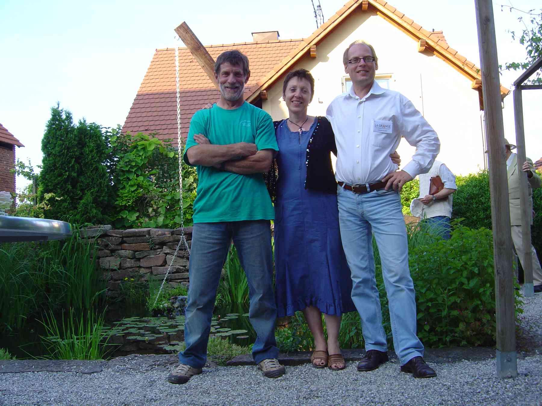 Gérard SCHALL (à gauche) ami de la nature et animateur formidable!