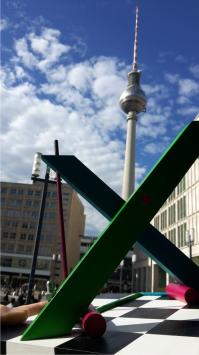 X by Johannes BlonK in Berlin, TV tower