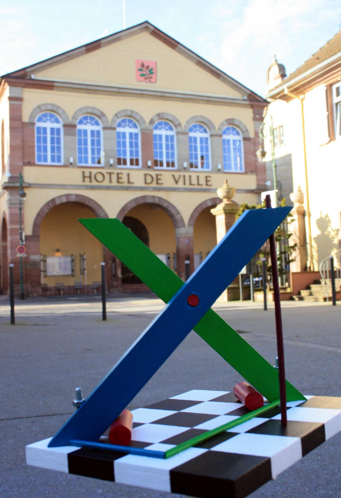 X by Johannes BlonK, Townhall of Brumath, France, 2015