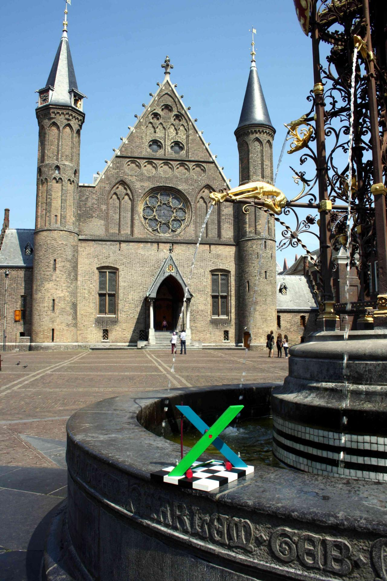 X by Johannes BlonK at the Binnenhof, The Hague, The Netherlands